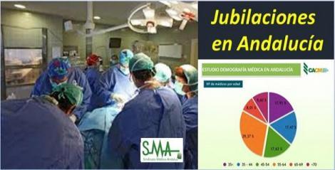 Más del 45% de los médicos andaluces se jubilarán en la próxima década.