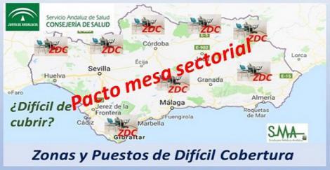 Andalucía: pacto para paliar el déficit de profesionales sanitarios en ciertas zonas.