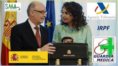 Hacienda retiene hasta el 50% de las guardias de los médicos en España.