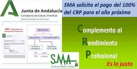 El SMA solicita el pago del 100% del CRP para el año próximo.
