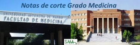 Notas de corte de Medicina 2017 en las universidades españolas.