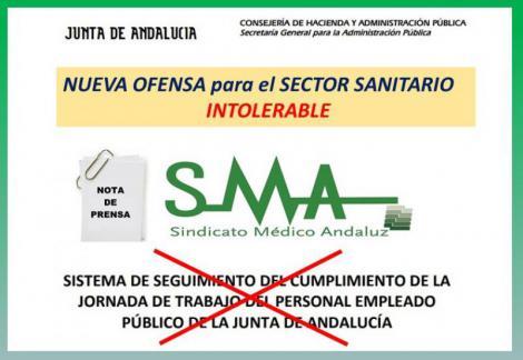Nueva, flagrante e intolerable ofensa a los facultativos andaluces. Una auténtica vergüenza.