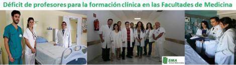 Cada vez quedan menos médicos para dar formación clínica en las Facultades de Medicina.