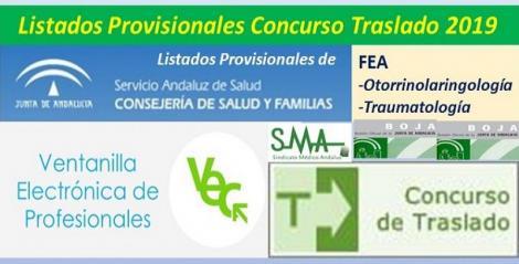 Publicadas en el BOJA resoluciones del Concurso de Traslado 2019 con listados provisionales de FEA Otorrinolaringología y Traumatología.