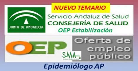 BOJA. Publicado el temario de las pruebas selectivas para el acceso a plazas de Epidemiólogo de Atención Primaria.