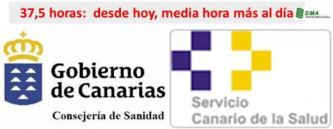 Canarias inicia hoy el nuevo horario con la jornada de 37,5 horas.