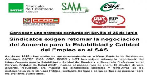 Exigimos retomar la negociación del Acuerdo para la Estabilidad y Calidad del Empleo en el SAS.