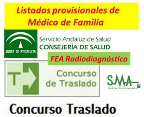 Publicadas las listas provisionales del Concurso de Traslado de Médico de Familia y FEA Radiodiagnóstico.