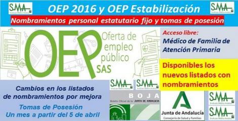 Información sobre los nombramientos de Médico/a de Familia de Atención Primaria (OEP ordinaria y de estabilización).