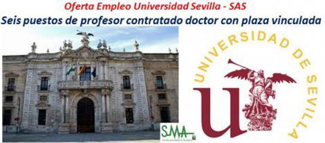 Publicada oferta de empleo complementaria para la Universidad de Sevilla de seis plazas vinculadas correspondientes al SAS.