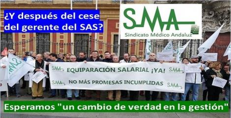 El Sindicato Médico Andaluz aboga por que tras el cese del gerente del SAS haya