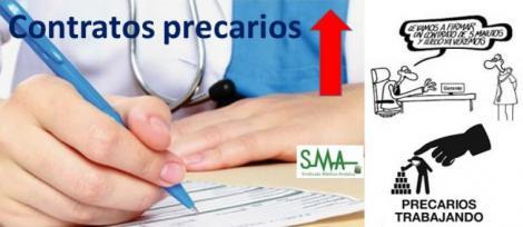 """Los sanitarios firman un 48% más de contratos """"precarios"""" que a principios de 2016."""