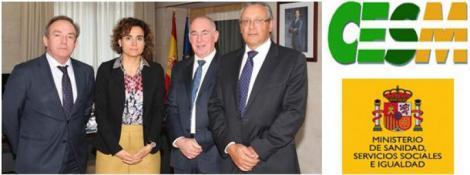 CESM presenta sus reivindicaciones a la ministra de Sanidad.