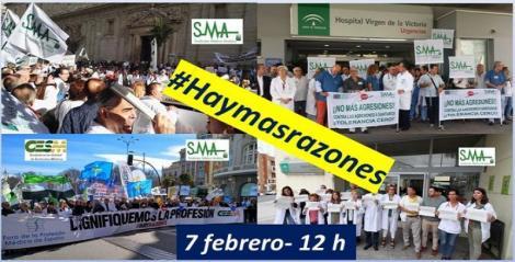 CESM convoca y anima a los médicos a manifestarse este jueves, 7 de febrero, por sus derechos y la dignidad de la profesión. #Haymásrazones.