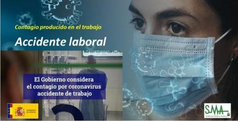 El Gobierno rectifica y considera el contagio por coronavirus accidente laboral a todos los efectos.
