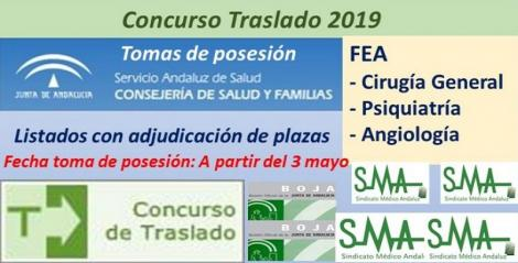 Concurso de Traslados 2019. Publicado en el Boja la resolución definitiva de FEA de Cirugía General, Psiquiatría y Angiología y C. Vascular