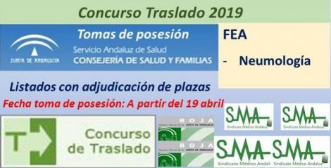 Concurso de Traslados 2019. Publicado en el Boja la resolución definitiva de FEA de Neumología.