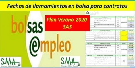 Plan de Vacaciones del SAS Verano 2020.