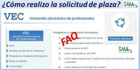 Preguntas y respuestas frecuentes: Cómo realizar la solicitud de plaza a través de la VEC.