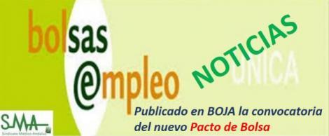 Publicado en Boja la convocatoria del nuevo Pacto de Bolsa Única.