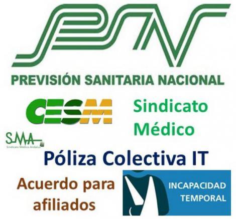 Seguro de cobertura de IT para afiliados al Sindicato Médico.