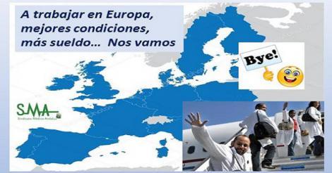 Aumentan de nuevo las peticiones de médicos para salir fuera de España.