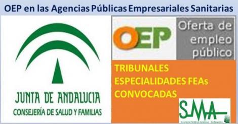 Composición de los Tribunales Calificadores de las especialidades de Facultativo/a Especialista convocadas de las APES: Hospital Bajo Guadalquivir y Hospital de Poniente.
