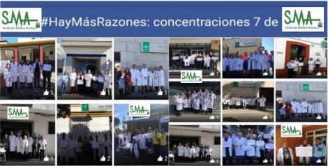 #HayMásRazones: Clamor a las puertas de los centros por la calidad asistencial y la dignidad de la profesión.