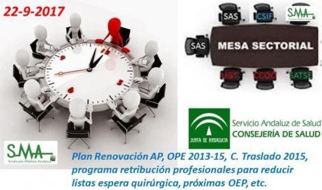 Informe mesa sectorial 22-9-2017 - Plan Renovación AP, OPE 2013-15, C. Traslado 2015, próximas OEP....