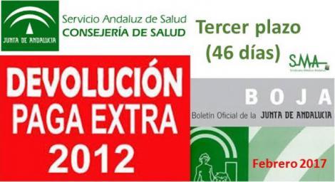 Recuperación de otros 46 días de la paga extraordinaria del mes de diciembre de 2012 (tercer plazo)
