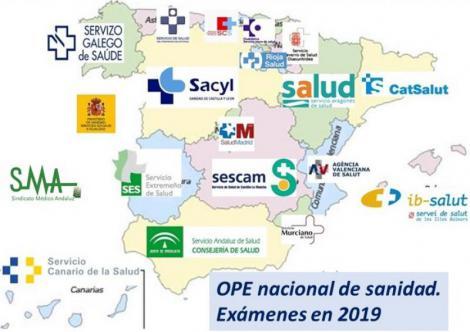 Nueva fecha para la OPE nacional de sanidad. Exámenes en 2019.
