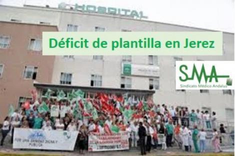 El personal sanitario en Jerez se echa a la calle por la falta de plantilla.