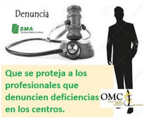 La OMC pide que se proteja de posibles sanciones al médico que denuncie problemas en sus centros.
