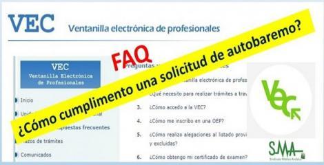 Actualizado el apartado de preguntas frecuentes sobre la VEC: ¿Cómo cumplimento una solicitud de autobaremo?