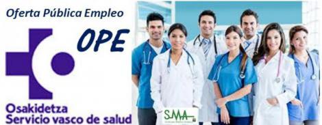 La OPE vasca oferta casi 900 plazas médicas.