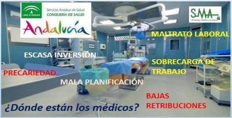 La precariedad agrava el éxodo de médicos de Andalucía.
