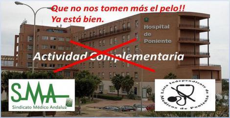 Los médicos del Hospital Poniente no harán actividad complementaria por los recortes.