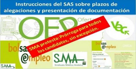 Escrito de protesta del SMA al Servicio Andaluz de Salud para la prórroga de plazos administrativos de todos los candidatos, sin excepción.