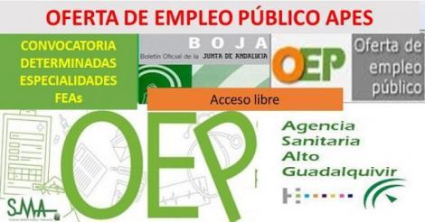 Composición de los Tribunales Calificadores de las especialidades de Facultativo/a Especialista convocadas de la Agencia Pública  Empresarial Sanitaria Hospital Alto Guadalquivir.