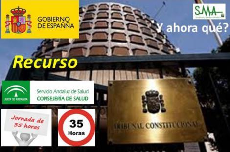 El Gobierno recurrirá las 35 horas semanales de los sanitarios en Andalucía.