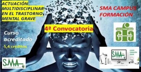 Cuarta convocatoria del curso de formación acreditado: Actuación multidisciplinar en el trastorno mental grave.