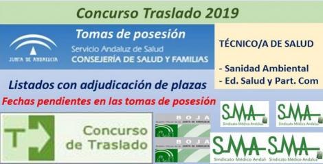 Concurso de Traslados 2019. Publicada en el Boja la resolución definitiva de Técnico/a de Salud (Sanidad Ambiental y Educación para la Salud).