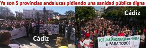 La «marea blanca» contra los recortes sanitarios en Andalucía llega a Jerez.