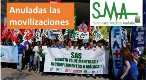 Desconvocadas las movilizaciones por la sanidad en Málaga