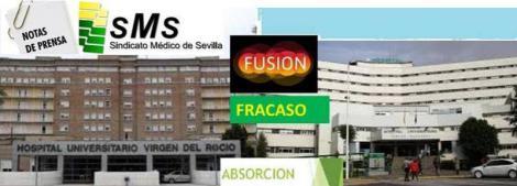 Contra la fusión hospitalaria. Nota de prensa del Sindicato Médico de Sevilla.