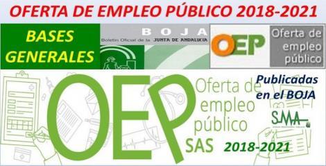 Publicadas en el Boja las bases generales de las convocatorias que han de regir los procesos selectivos de OEP 2019-2020-2021 y la modificación de las del 2018.
