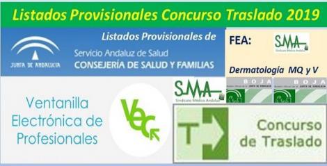 Publicada en el BOJA resolución del Concurso de Traslado 2019 con listados provisionales de FEA de Dermatología.