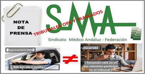 El SAS discrimina y ofende a los representantes sindicales en los tribunales de OPEs y traslados.