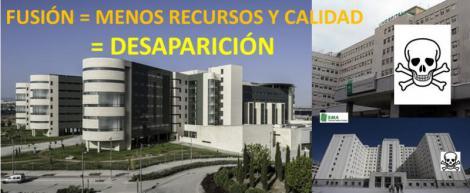 El SMA denuncia la pérdida de recursos que supone la fusión hospitalaria.
