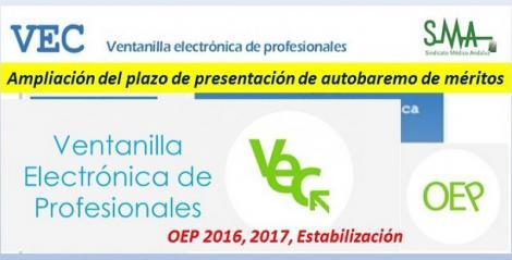 Ampliación del plazo de presentación del Autobaremo de méritos para las personas que han superado la fase oposición de determinadas categorías (OEP 2016, 2017 y Estabilización).